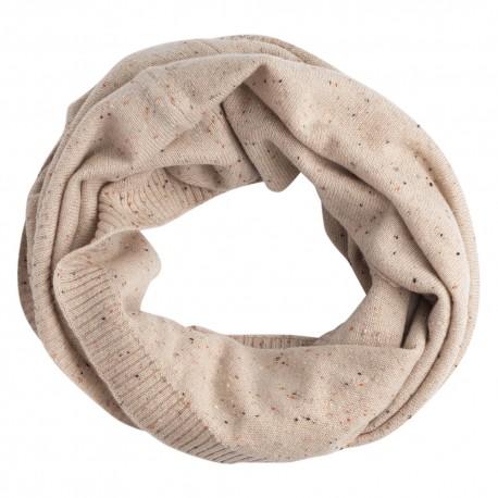 Billede af Beige nistret tubehalstørklæde i ren cashmere