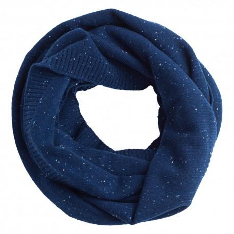 Billede af Blåt nistret tubehalstørklæde i ren cashmere