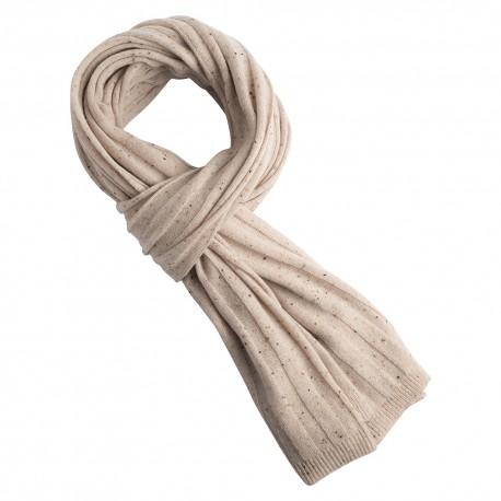 Billede af Beige halstørklæde med nister i ren cashmere