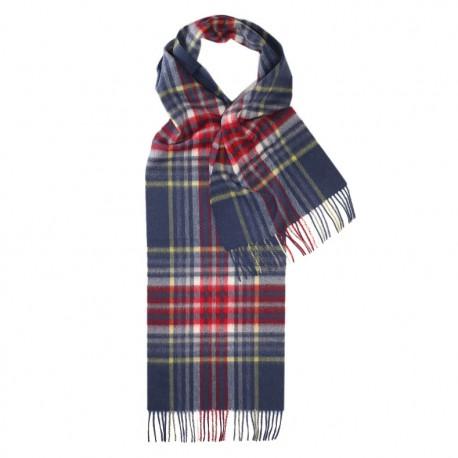 Billede af Blåt skotsternet halstørklæde i lambswool