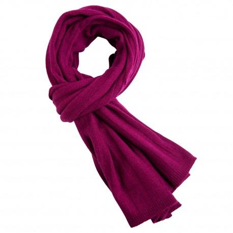 Billede af Blommefarvet halstørklæde i cashmerestrik