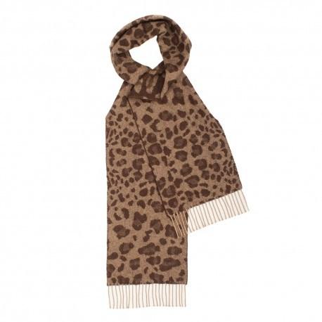 Billede af Brunt halstørklæde med dyreprint